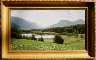 Der Bärnsee bei Aschau 30x55 cm R